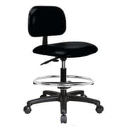 Perch Chairs & Stools Low-Back Drafting Chair; Black Vinyl