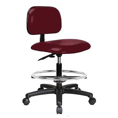 Perch Chairs & Stools Low-Back Drafting Chair; Burgundy Vinyl