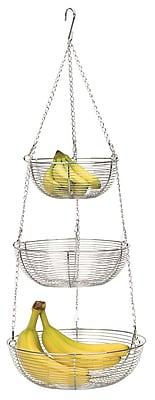 RSVP-INTL 3 Tier Hanging Baskets; Chrome