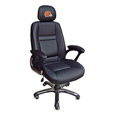 Tailgate Toss NFL Leather Desk Chair; Cleveland Browns