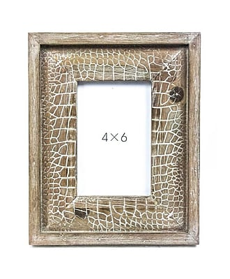 Sagebrook Home Wood Photo Frame; 4'' x 6''