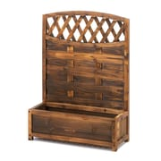 Classic Gifts and Decor Fir Wood Planter Box w/ Trellis