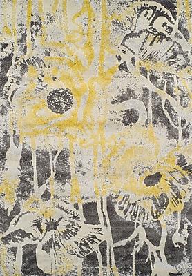 Dalyn Rug Co. Modern Grays Dalyn Lemon Area Rug; 5'3'' X 7'7''