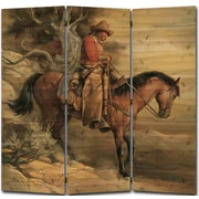 WGI GALLERY 55'' x 55'' Long Road Home 3 Panel Room Divider
