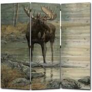 WGI GALLERY 68'' x 68'' Quiet Water Moose 3 Panel Room Divider