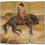 WGI GALLERY 55'' x 55'' Sun Fishin Son of a Gun 3 Panel Room Divider