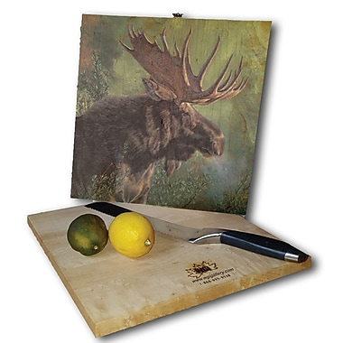 WGI GALLERY Crisp Fall Morning Moose 12'' x 12'' Cutting Board