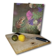 WGI GALLERY Chipmunk in the Garden 12'' x 12'' Cutting Board