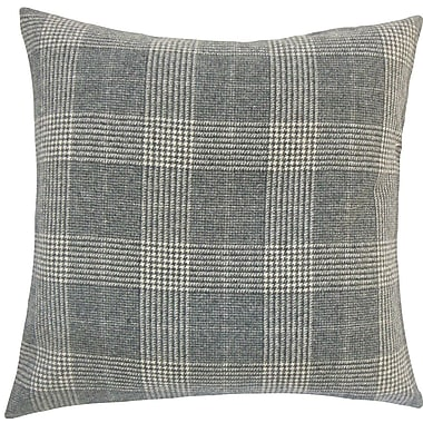 The Pillow Collection Ralston Plaid Wool Throw Pillow; 18'' H x 18'' W x 5'' D