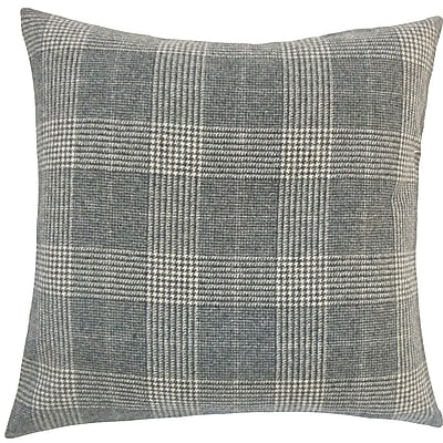The Pillow Collection Ralston Plaid Wool Throw Pillow; 20'' H x 20'' W x 5'' D