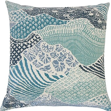 The Pillow Collection Vaughan Geometric Cotton Throw Pillow; 18'' H x 18'' W x 5'' D