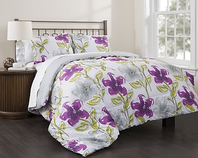 Republic Jasmine Garden 3 Piece Reversible Comforter Set; King