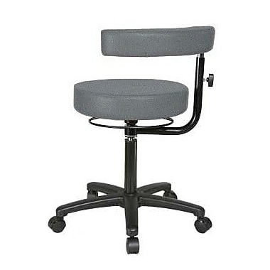 Perch Chairs & Stools Height Adjustable Dental Stool w/ Procedure Arm; Cinder Fabric