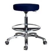 Perch Chairs & Stools Height Adjustable Swivel Stool w/ Foot Ring; Imperial Fabric