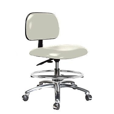 Perch Chairs & Stools Low-Back Drafting Chair; Adobe White Vinyl WYF078279046196