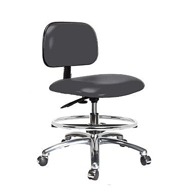 Perch Chairs & Stools Low-Back Drafting Chair; Charcoal Vinyl