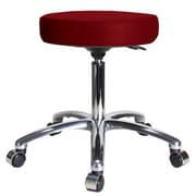 Perch Chairs & Stools Height Adjustable Swivel Stool; Burgundy Vinyl