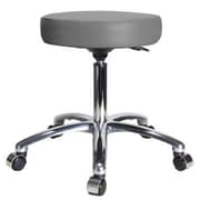 Perch Chairs & Stools Height Adjustable Swivel Stool; Grey Vinyl