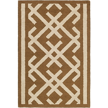 Artistic Weavers Congo Lynnie Hand-Tufted Brown/Beige Area Rug; Rectangle 2' x 3'