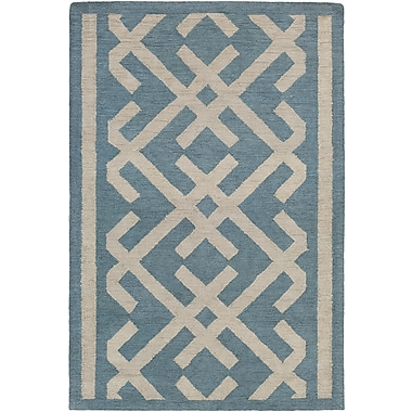 Artistic Weavers Congo Lynnie Hand-Tufted Blue/Beige Area Rug; Rectangle 2' x 3'