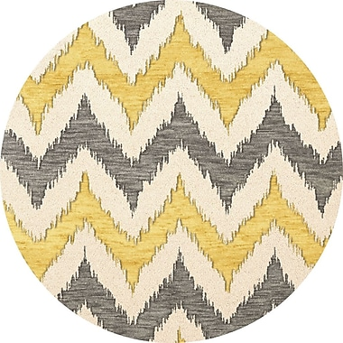 Dalyn Rug Co. Bella Beige/Gray/Yellow Area Rug; Round 4'