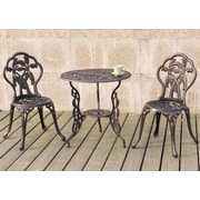 A&J Homes Studio Diamond 3 Piece Bistro Set