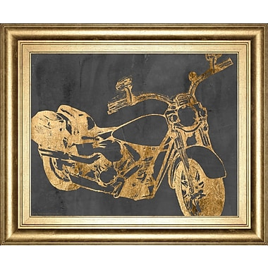ClassyArtWholesalers 'Motorcycle Bling I' by Jennifer Goldberger Framed Painting Print