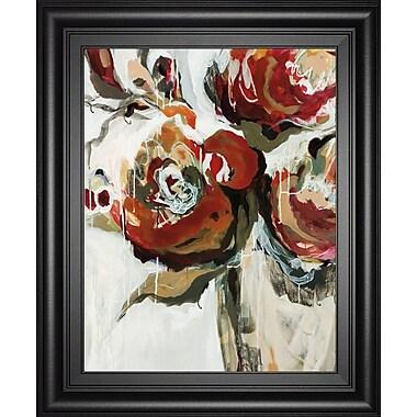 ClassyArtWholesalers 'Persimmon Blooms' by Angela Maritz Framed Painting Print