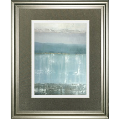 ClassyArtWholesalers 'Twilight Blues' by Caroline Gold Framed Painting Print
