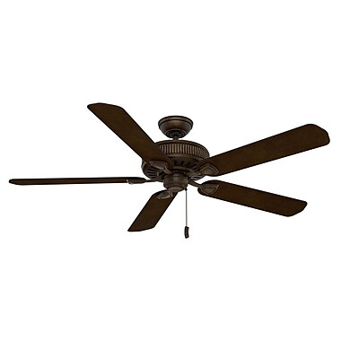 Casablanca Fan 60'' Ainsworth Gallery 5-Blade Fan; Provence Crackle with Smoked /Espresso Blades