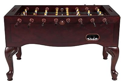 Berner Billiards Furniture Style Foosball Table; Mahogany