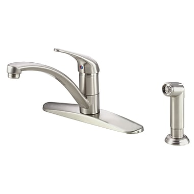 Danze Melrose Single Handle Deck Mounted Kitchen Faucet w/ Side Spray and Deck Plate