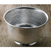 Kindwer 15'' Hammered Round Aluminum Punch Serving Bowl
