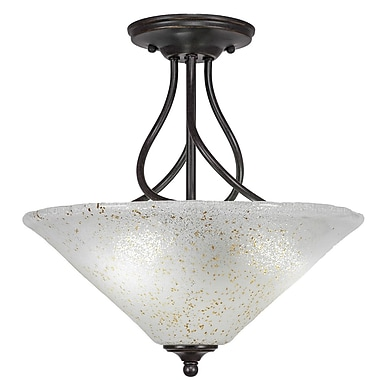 Toltec Lighting Capri 3-Light Semi-Flush Mount