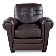 Opulence Home Aaron Club Chair; Leigh Black Cherry
