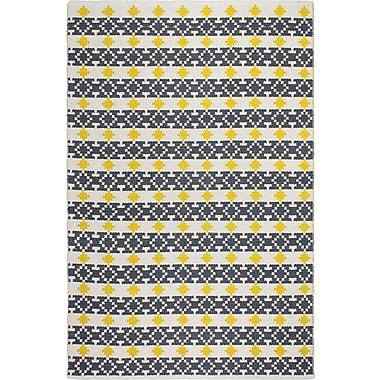Fab Habitat Estate Hand-Woven Yellow/Gray Area Rug; 5' x 8'