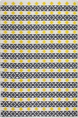 Fab Habitat Estate Hand-Woven Yellow/Gray Area Rug; 2' x 3'