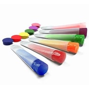My Home Basics Clear Silicone Ice Pop and Popsicle Mold w/ Color Tops (Set of 6)