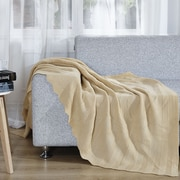 De Moocci Twisted Throw Blanket; Soft Yellow