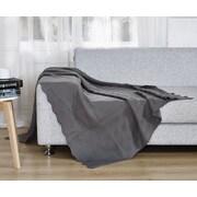 De Moocci Twisted Throw Blanket; Dark Gray