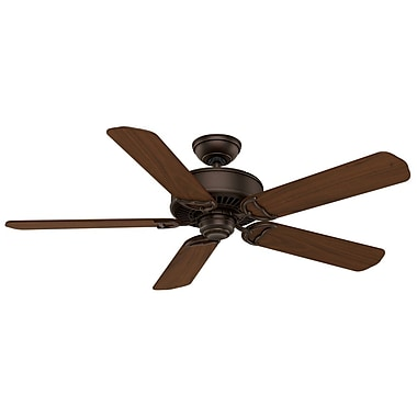 Casablanca Fan 54'' Panama 5-Blade Fan w/ Remote; Brushed Cocoa with Burnt Walnut Blades