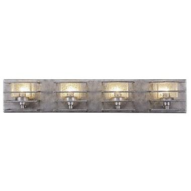 Toltec Lighting Sky Loft 4-Light Vanity Light; Aged Silver