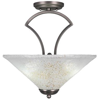 Toltec Lighting Zilo 3-Light Semi-Flush Mount; Graphite