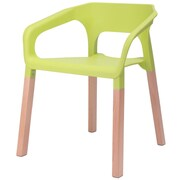 eModern Decor Amy Arm Chair; Green