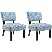 Container Abstract Side Chair (Set of 2); Blue