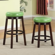 Roundhill Furniture Swivel Bar Stool; Green