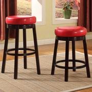 Roundhill Furniture Swivel Bar Stool; Red