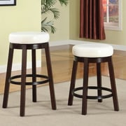 Roundhill Furniture Swivel Bar Stool; White