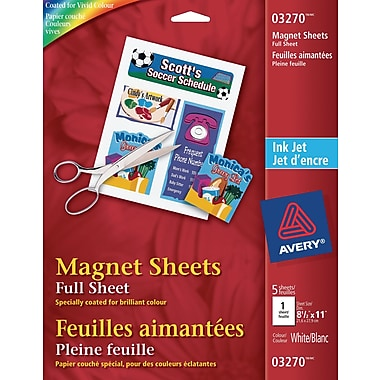 Avery® Magnetic Printable 8-1/2