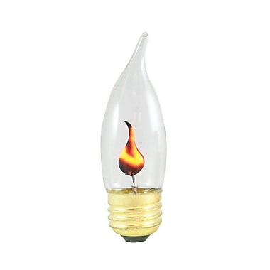 Bulbrite INC CA10 3W Dimmable Flicker Flame Clear 2700K Warm White 6PK (410803)